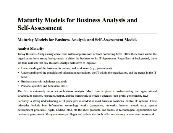 11+ Business Analysis Samples Sample Templates - what is business analysis