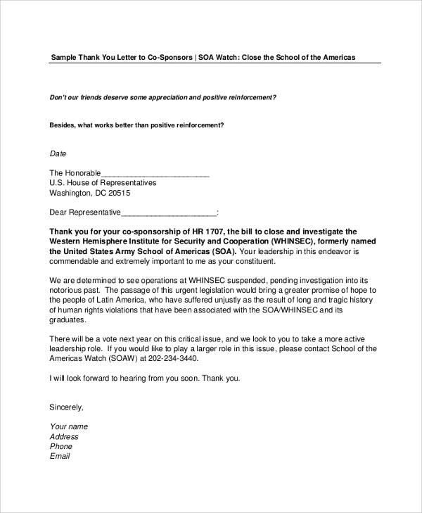 Sponsorship Letter Appreciation | Curriculum Vitae And Resume