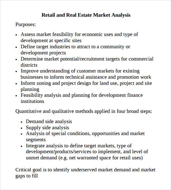 12+ Market Analysis Samples, Examples, Templates Sample Templates