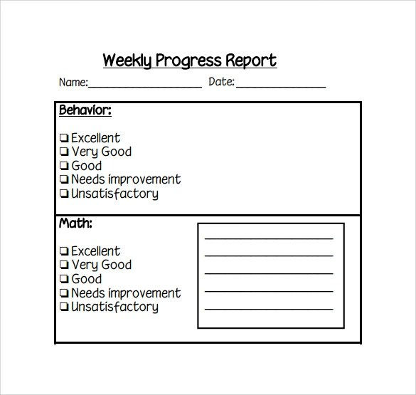 weekly work report templates - project report template word