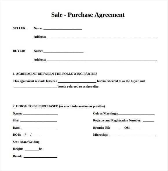 Simple buy sell agreement template - visualbrainsinfo - buy sell agreement template