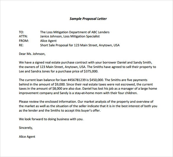 14+ Sample Proposal Letter Templates \u2013 PDF, DOC Sample Templates