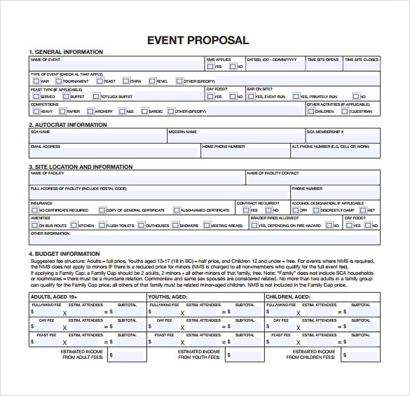 free proposal templates downloads - free event proposal template download