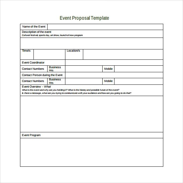 32 Sample Business Proposal Letters Sample Templates Sample Event Proposal Template 15 Free Documents In Pdf