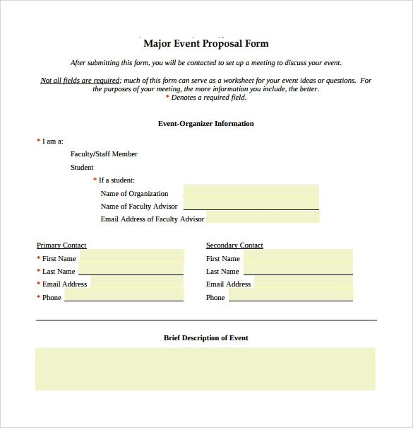 Sample Business Proposal Download – Free Event Proposal Template Download