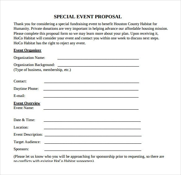 25+ Sample Event Proposal Templates \u2013 PSD, PDF, Word, Apple Pages - free event proposal template download