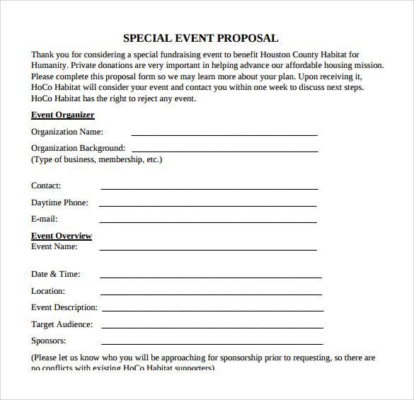 proposal event organizer pdf