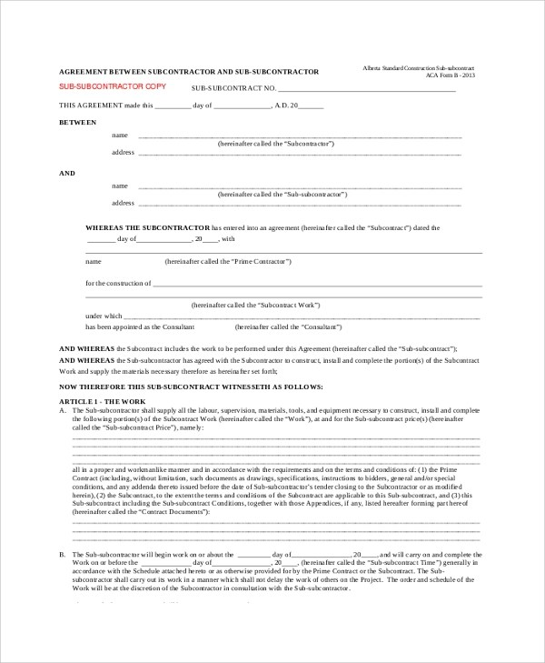 Sample Contract Agreement - 52+ Free Documents Download in PDF, Word - agreement for labour contract