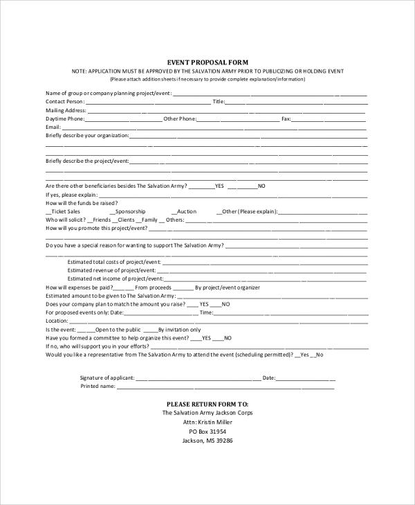 proposal event organizer pdf - Josemulinohouse