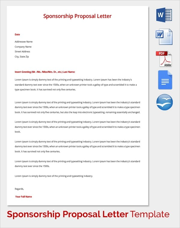 Charity Cover Letter Template – Charity Proposal