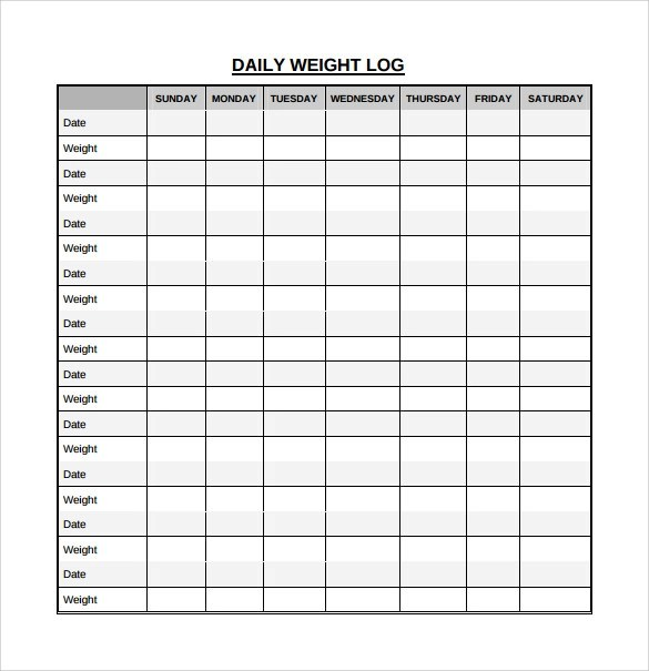 Daily Log Template - free log templates
