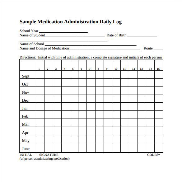 16+ Sample Daily Log Templates \u2013 PDF, DOC Sample Templates - log template in word