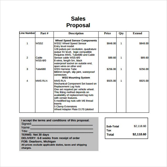 19+ Sample Sales Proposal Templates - PDF, Word, PSD