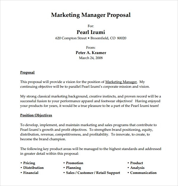 Sample Job Proposal Template - 12 Free Documents Download PDF, Doc