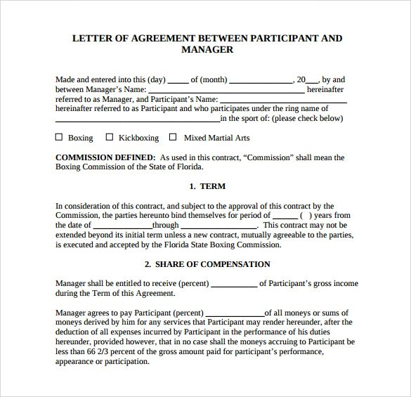 Agreement Letter Between Two Parties Free Sample Letters Letter Of Agreement 14download Free Documents In Pdf Word