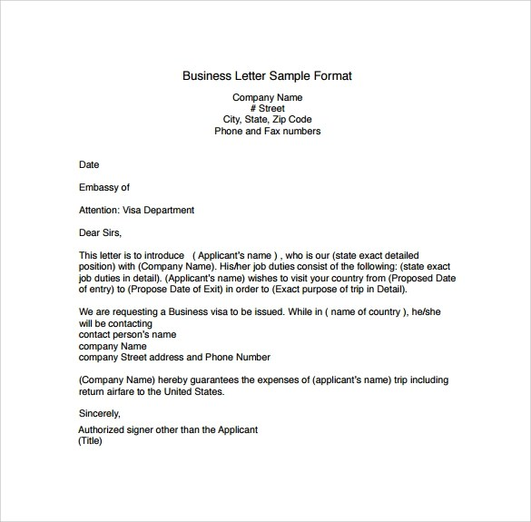 Business Letter Example Business Letter Format Sample Example