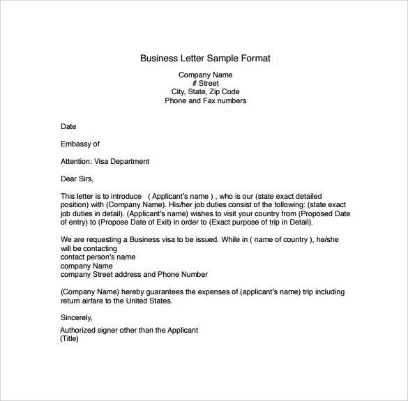 busines letter - Acurlunamedia