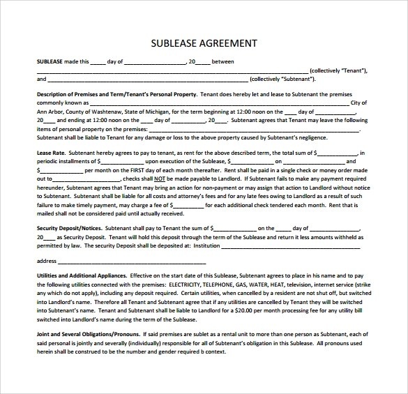 Simple Commercial Lease Agreement Template Uk  Create