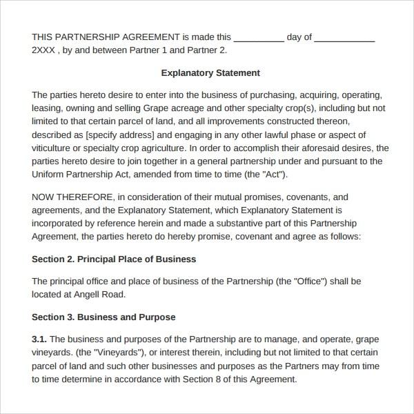 Partnership buyout agreement template sample document resumes partnership buyout agreement template partnership agreement form partnership agreement sample buy sell agreement 7 free documents wajeb Images
