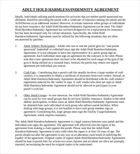 30+ Sample Hold Harmless Agreement Templates to Download Sample