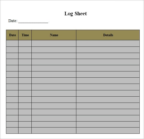 Log Sheet Template - 9+ Download Free Documents in PDF, Word, Excel - log template sample