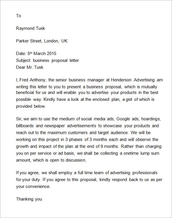 Proposal Letter Template. 40+ Sponsorship Letter & Sponsorship