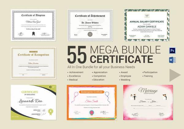 26+ Certificate Templates - Word, PSD, AI