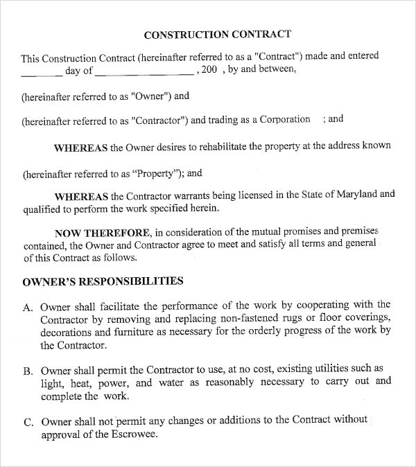 6+ Sample Contractual Agreements Sample Templates - how to write up a contract for payment