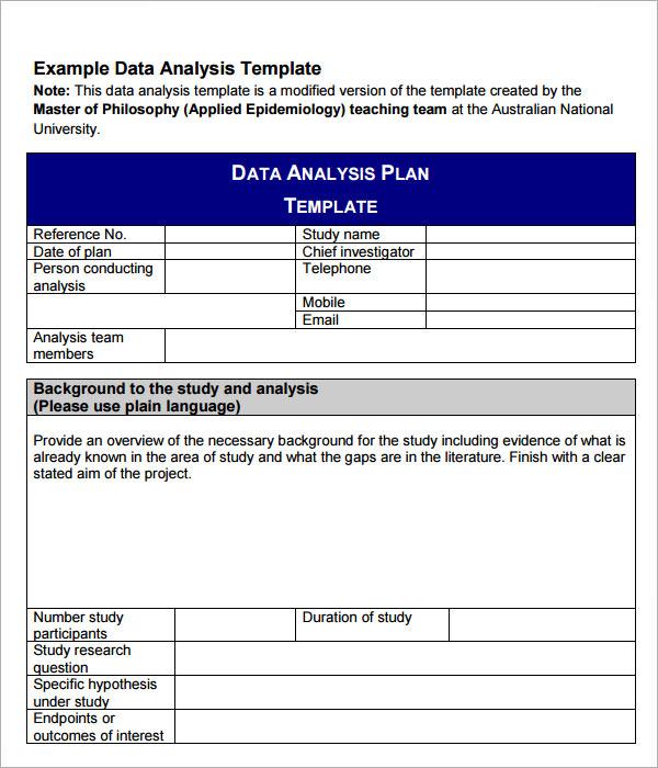 Sample Data Analysis - 6+ Documents in PDF, Word, Google Docs, Apple