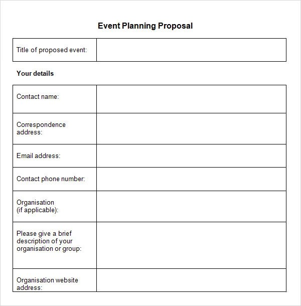 30+ Sample Event Proposal Templates - PSD, PDF, Word