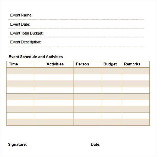 Event Template Word – Event Proposal Template Free