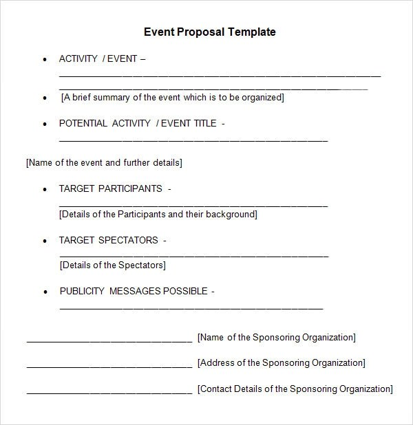 event management proposal template - Onwebioinnovate