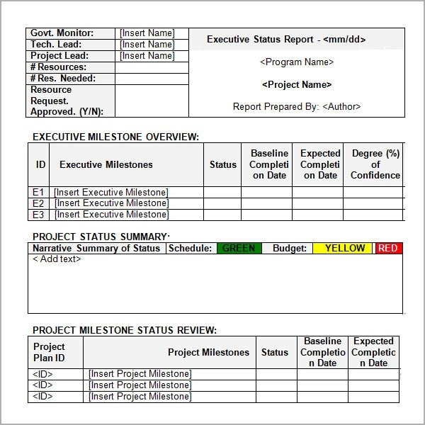 11+ Sample Status Reports Sample Templates - status report template