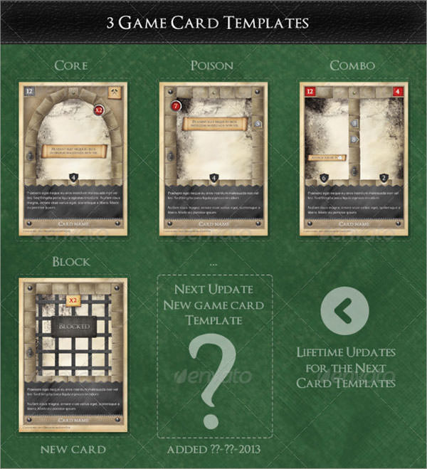 Game Card Templates  ApigramCom