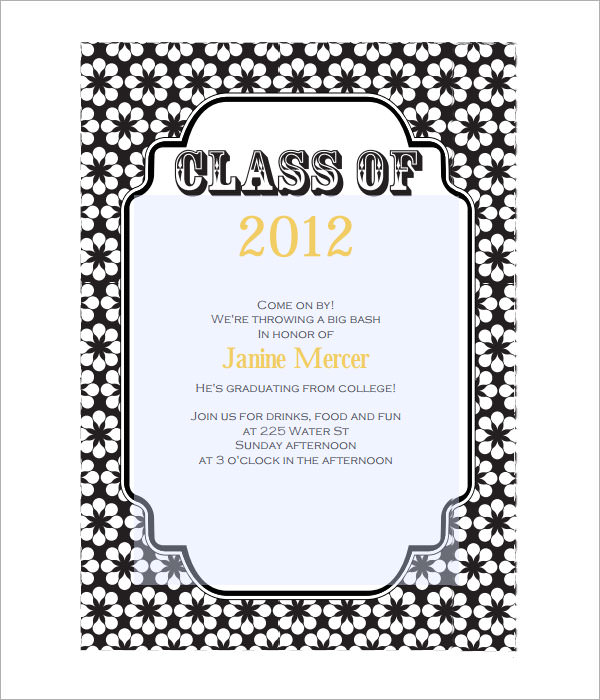 8 Beautiful Graduation Invitation Templates Sample Templates - Invitations Templates