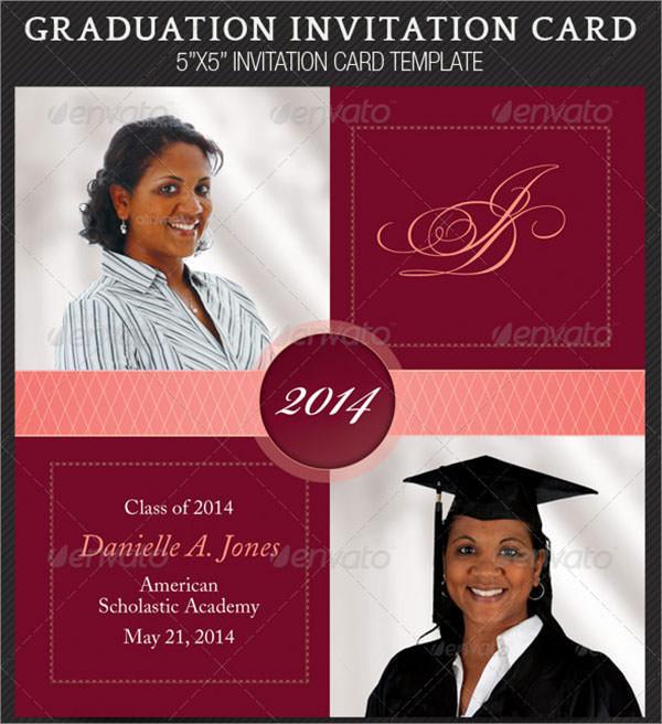 8 Beautiful Graduation Invitation Templates Sample Templates - graduation photo invitations