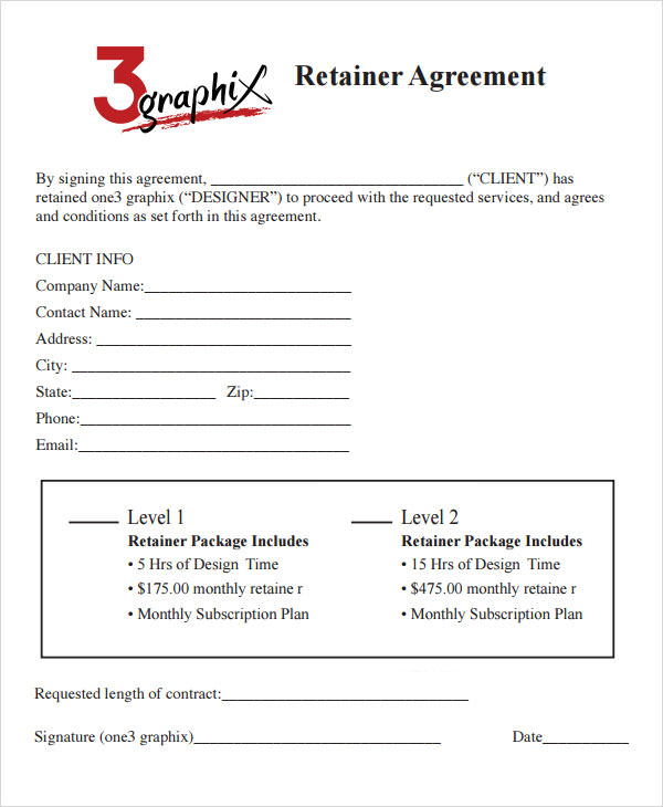 Graphic Design Contract Template   Hlwhy
