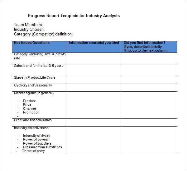Business Plan Templates 40 Page Ms Word Klariti Sample Industry Analysis Templates 6 Free Documents In