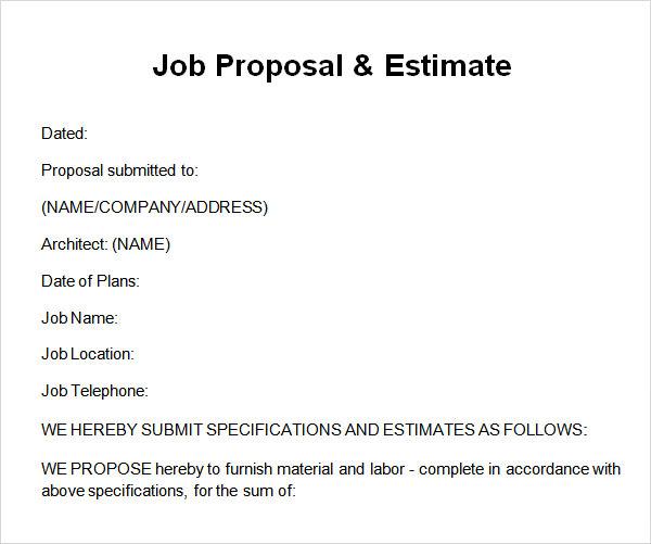sample work proposal - Josemulinohouse