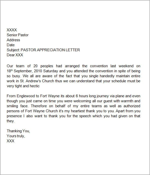 24+ Sample Thank You Letters for Appreciation \u2013 PDF, Word Sample