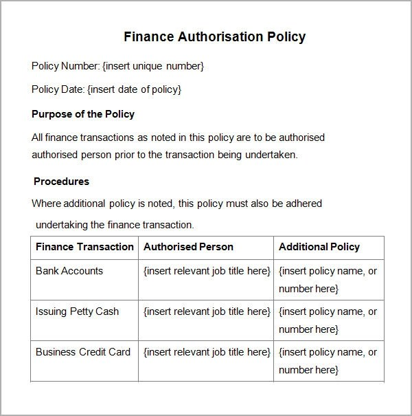 Policies And Procedures Template cyberuse - policy and procedure template