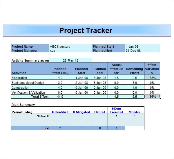 Free Construction Project Management Templates in Excel - mandegarinfo - free construction project management templates
