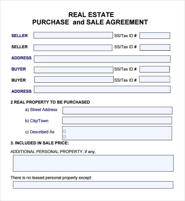 free printable real estate sales contract - 28 images - 8 real