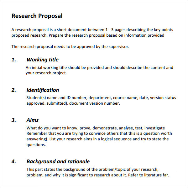 simple research proposal
