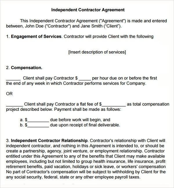 18 Subcontractor Agreement Templates Sample Templates - subcontractor agreement template