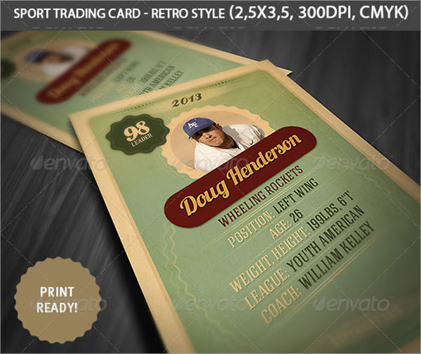 8 Sample Trading Card Templates Sample Templates