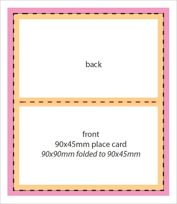 7+ Place Card Templates Sample Templates - folded place card templates
