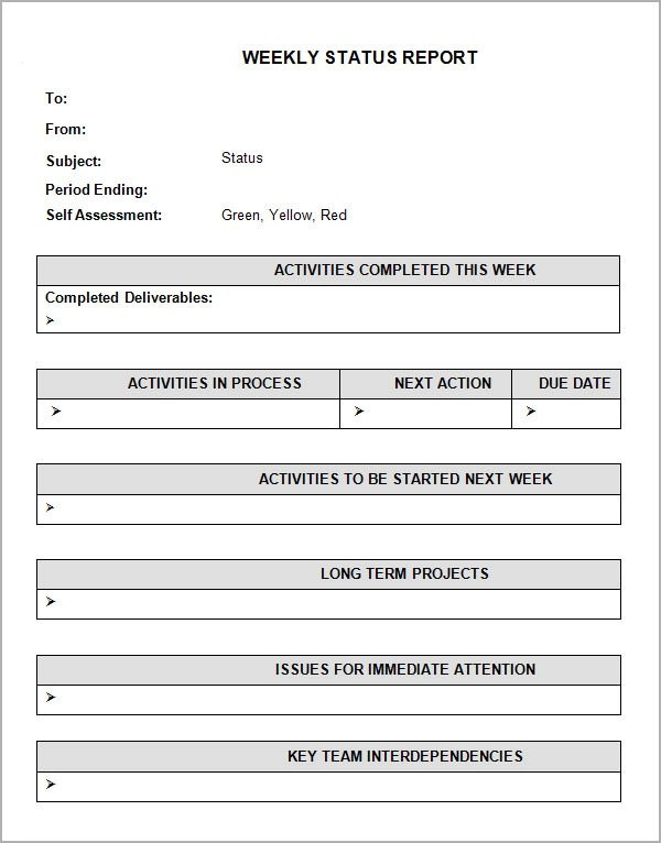 Sample Status Report - 12+ Documents in Word, PDF, PPT