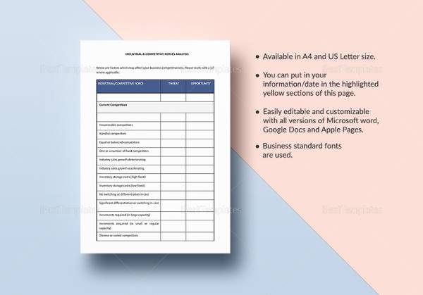 20+ Sample Competitive Analysis Templates - PDF, Word