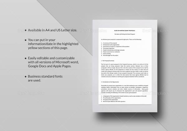 13 Sample Grant Proposal Templates to Download for Free Sample - microsoft word proposal template free download